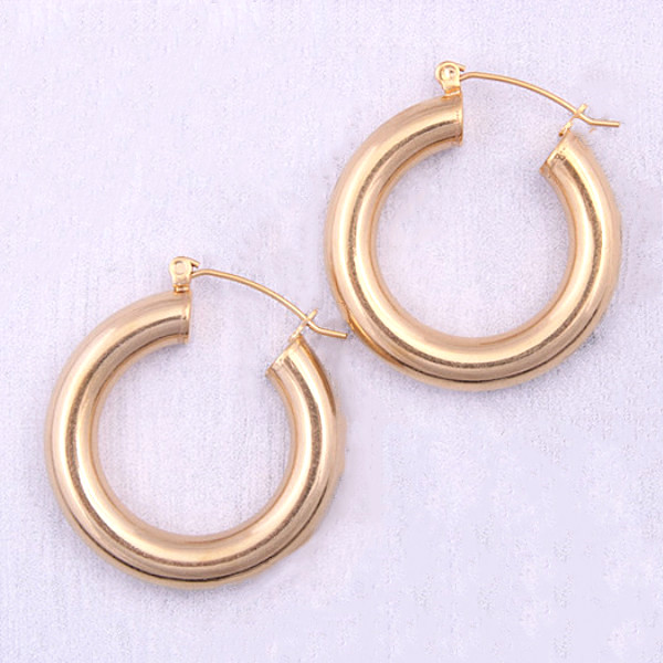 JaneE round surgical stainless steel earrings OEM for women-3