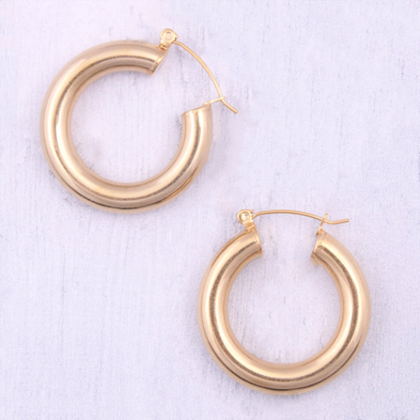 JaneE round surgical stainless steel earrings OEM for women-4