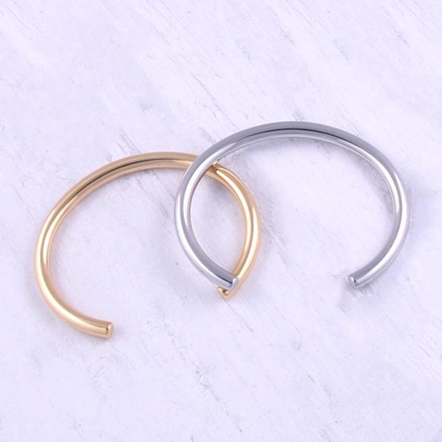 Minimalist Stainless Steel Cuff Bangle for Women Manufacturer