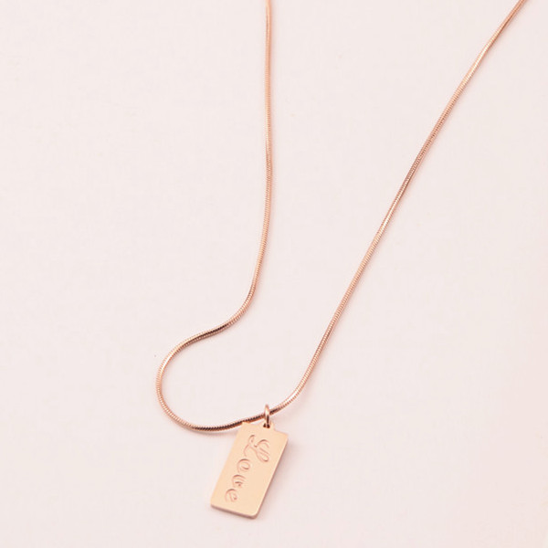 classic stainless steel necklace brushed surface factory direct for decoration-2
