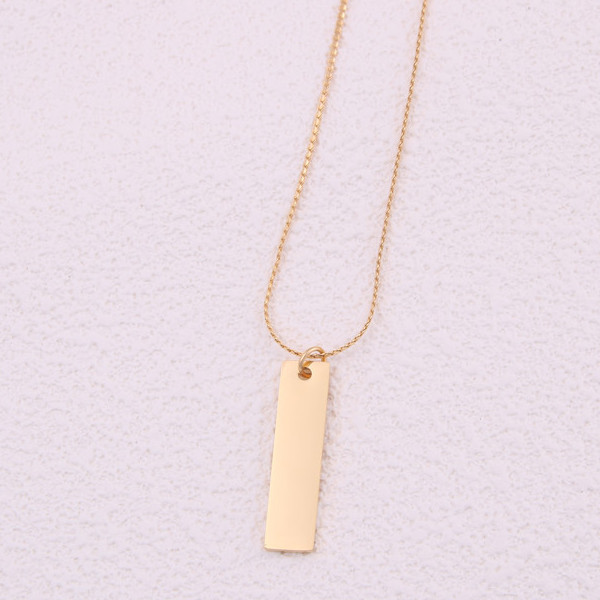 JaneE classic stainless steel personalized necklace manual polished for decoration-3