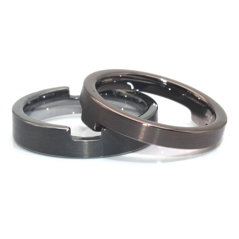Adjustable 316l Surgical Stainless Steel Ring Set for Men Women