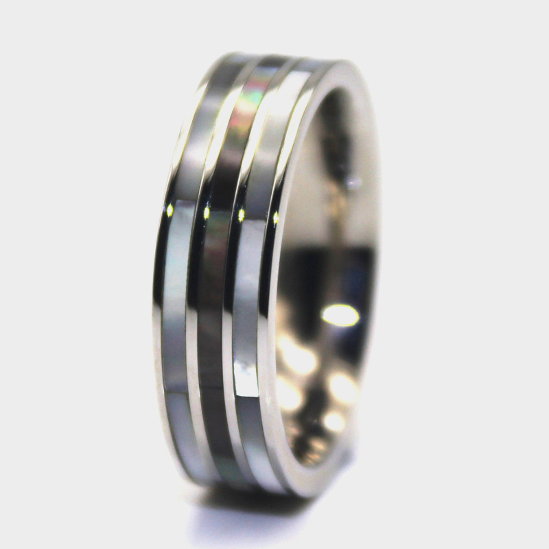 JaneE square edges stainless steel ring blanks top quality for decoration-3