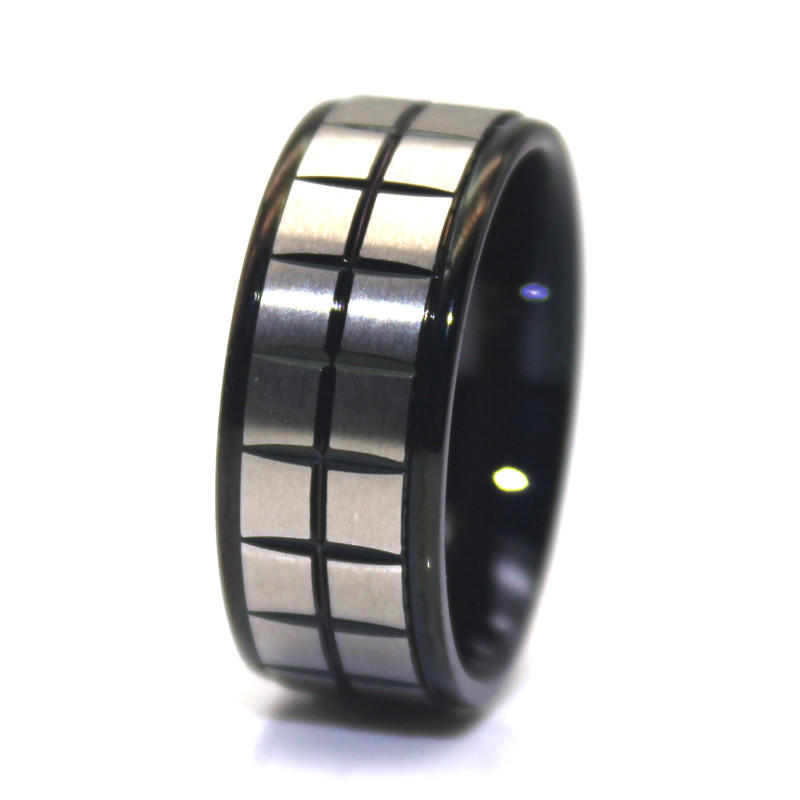 Mens Surgical Stainless Steel HipHop Ring Punk Men's Band