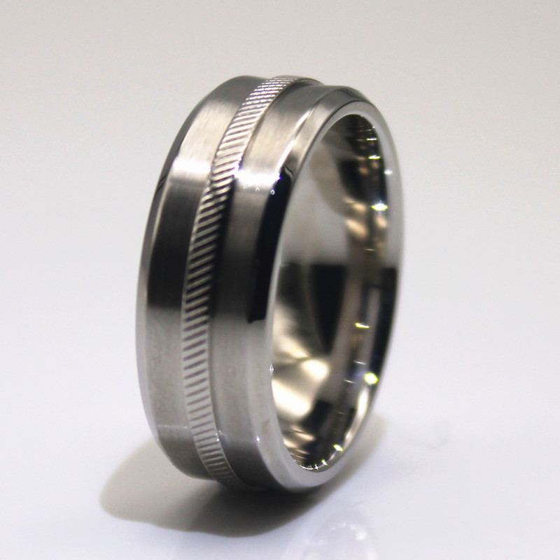 customized stainless steel cz rings milgrain fashion design for decoration-1