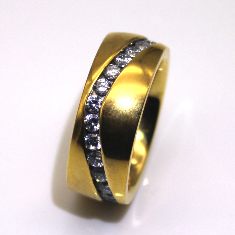 JaneE square edges men's wedding band top quality for men-3