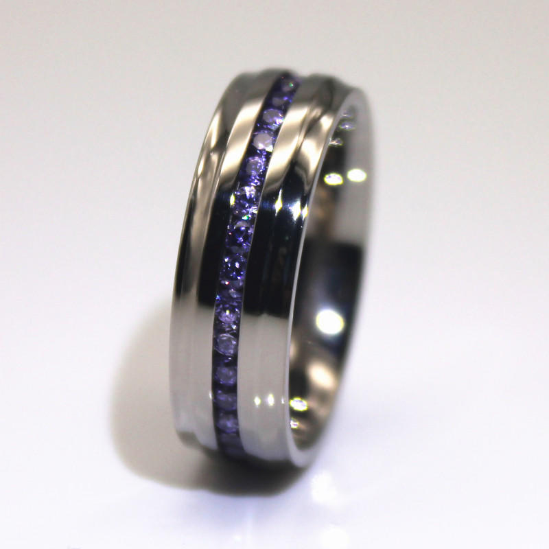 steel ring jewelry AAA CZ Stones for decoration JaneE