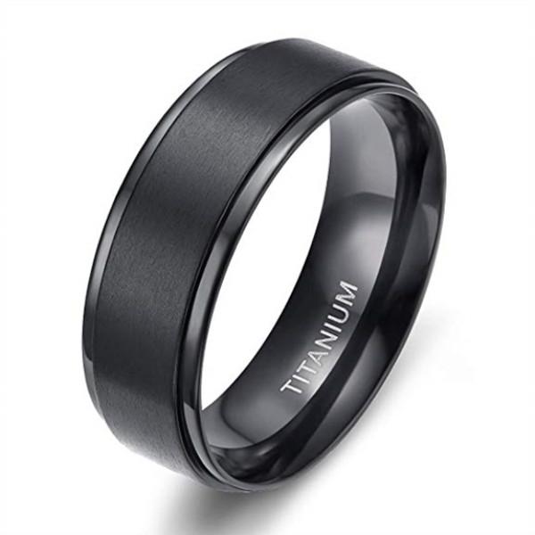 JaneE koa custom black titanium rings factory direct for engagement-1