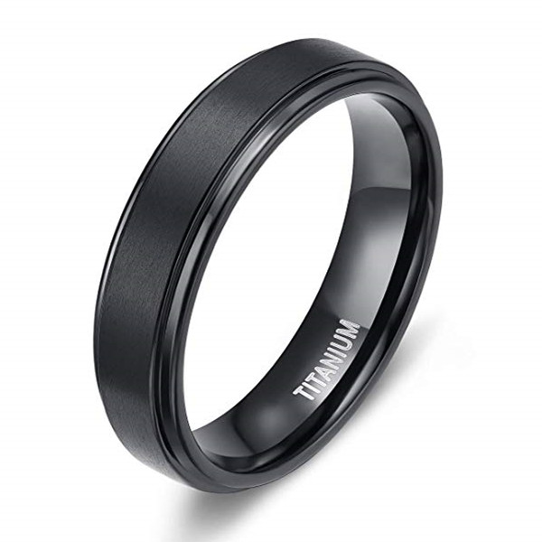 JaneE koa custom black titanium rings factory direct for engagement-2