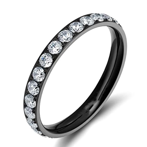 sparkle sandblasting custom titanium wedding rings center beveled simple for engagement-2