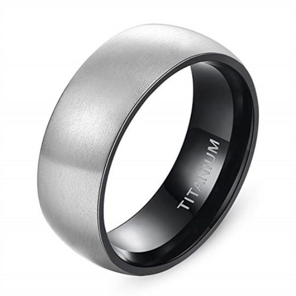JaneE sparkle sandblasting titanium engagement rings for her wholesale for engagement