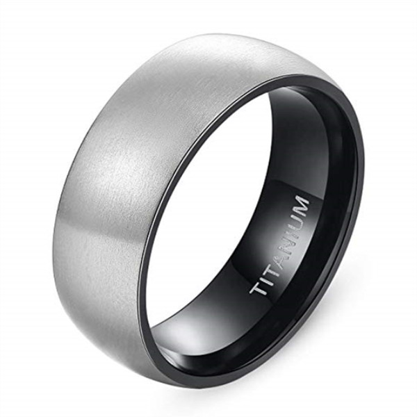 JaneE sparkle sandblasting titanium engagement rings for her wholesale for engagement-3