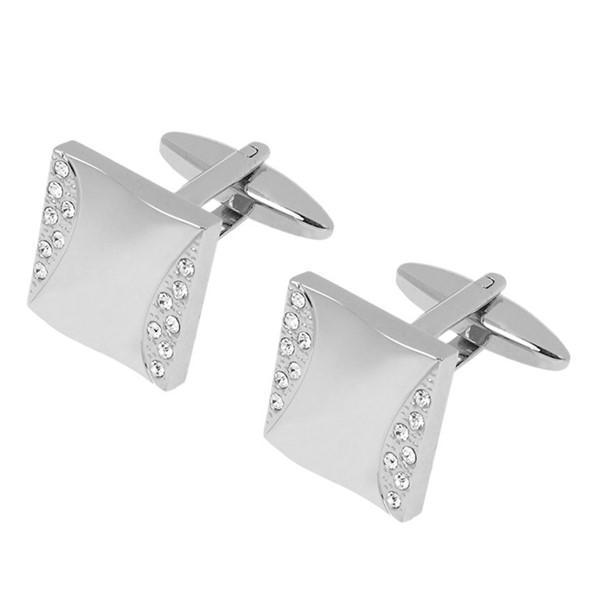 Luxury Gemstone Men's Jewelry Zircon Stone Cufflinks for Men