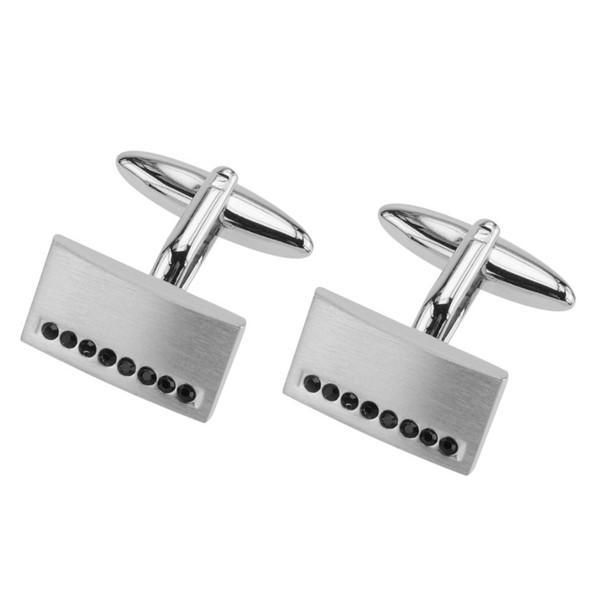 Men's Cufflinks Gemstone Jewelry 316L Stainless Steel Cuff Links