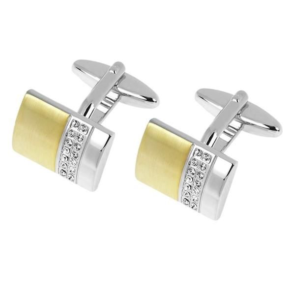 Surgical Stainless Steel Gold Plating Cufflinks for Men