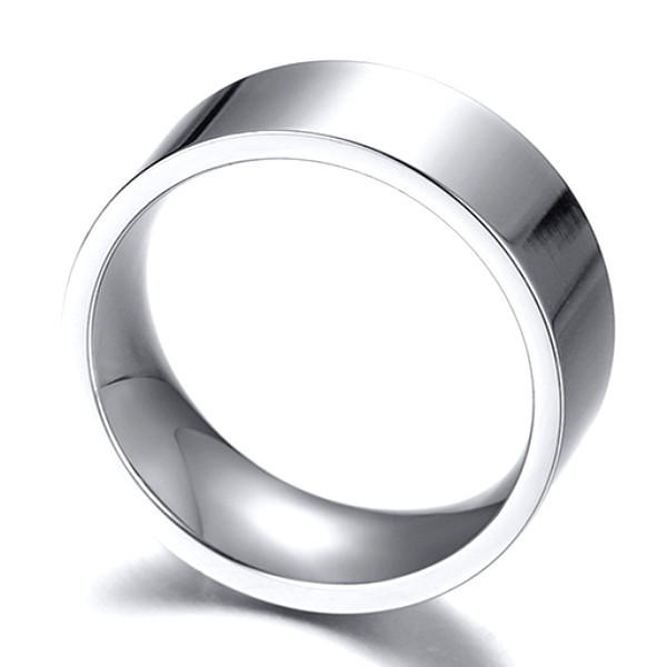 Cheap Men's Plain Nickel Free Titanium Wedding Rings Bands 6mm 8mm