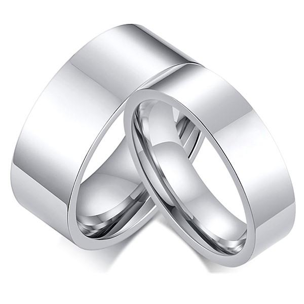 JaneE polished edge titanium engagement rings for her simple for engagement