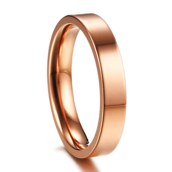4mm Silver Gold Rose Gold Titanium Wedding Bands