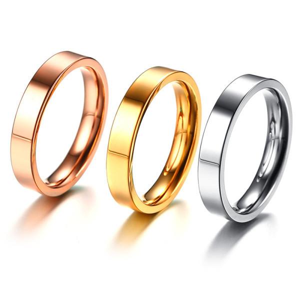 JaneE yellow gold black titanium rings wholesale for anniversary-2