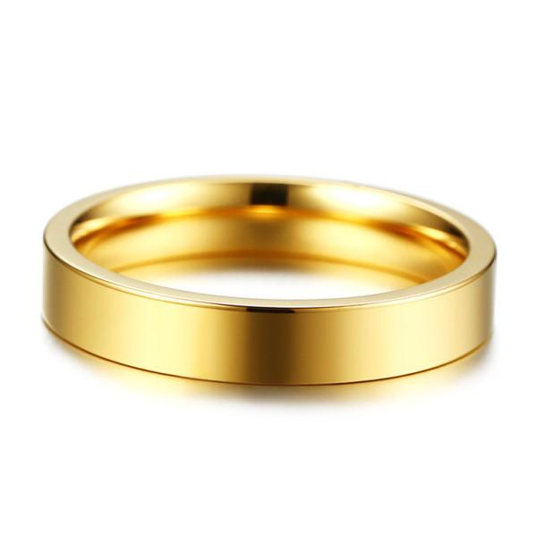JaneE polished edge black titanium rings simple for engagement-4