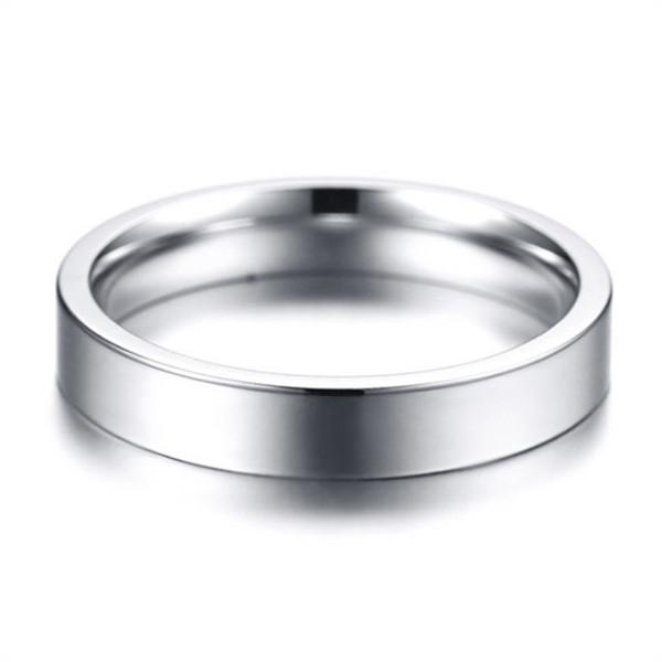 JaneE polished edge black titanium rings simple for engagement-5