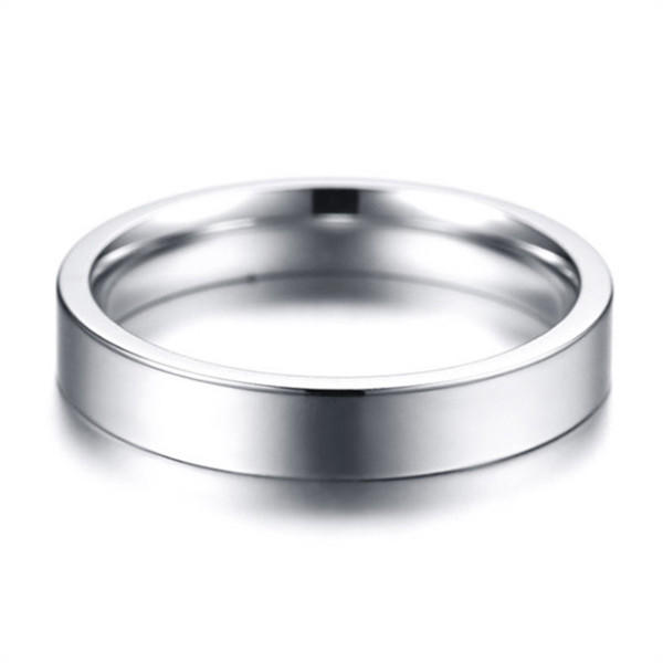 316L Stainless Steel Plain Polished Ring for Men Women