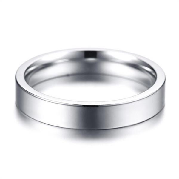 316L Stainless Steel Plain Polished Ring for Men Women