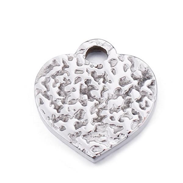 Surgical Stainless Steel Heart Shape DIY Charm