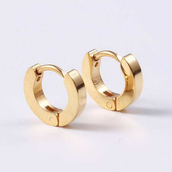 Surgical Stainless Steel Hypoallergenic Huggie Earrings for Men Wome