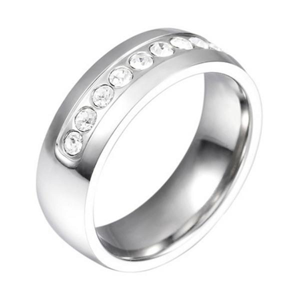 Custom 18k Gold Surgical Stainless Steel Women Zircon Stone Ring
