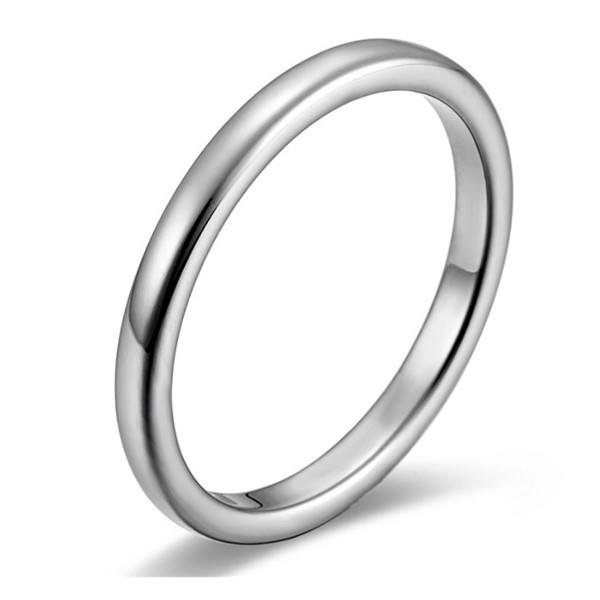2mm 3mm Silver Blue Rose Gold Black Dainty Surgical Stainless Steel Women Ring Men Band