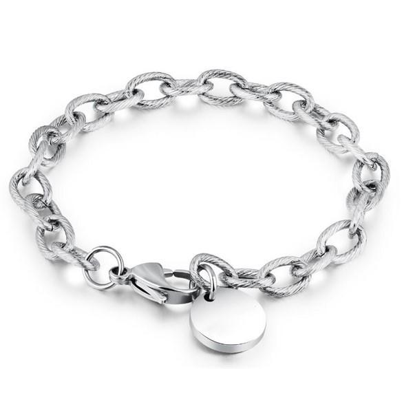 Factory Custom Stainless Steel Chain Couple ID Bracelets for Men Women