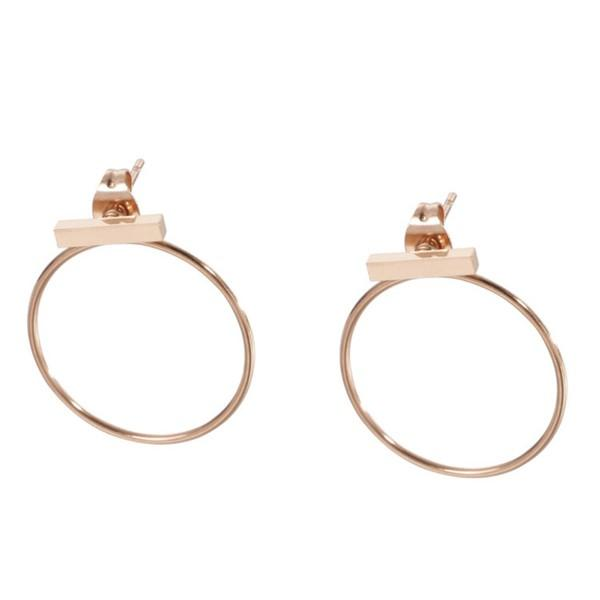Geometric Surgical Stainless Steel Stub Earrings For Women Jewelry