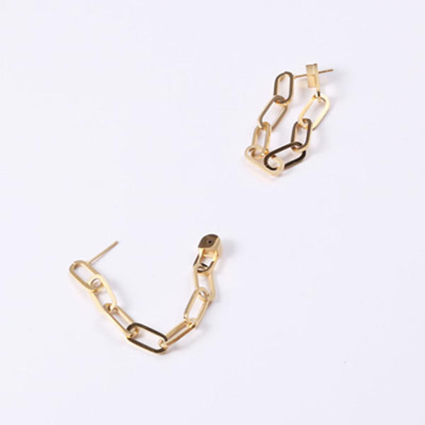 Fashion Christmas Gift Stainless Steel Chain Earrings for Women