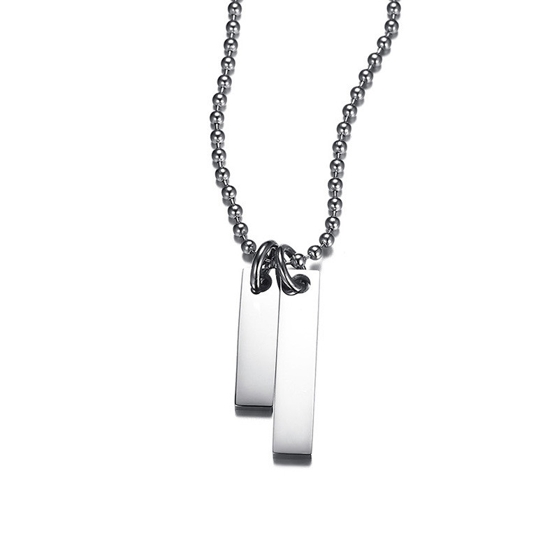 JaneE aromatherapy stainless necklace manual polished for gift-3
