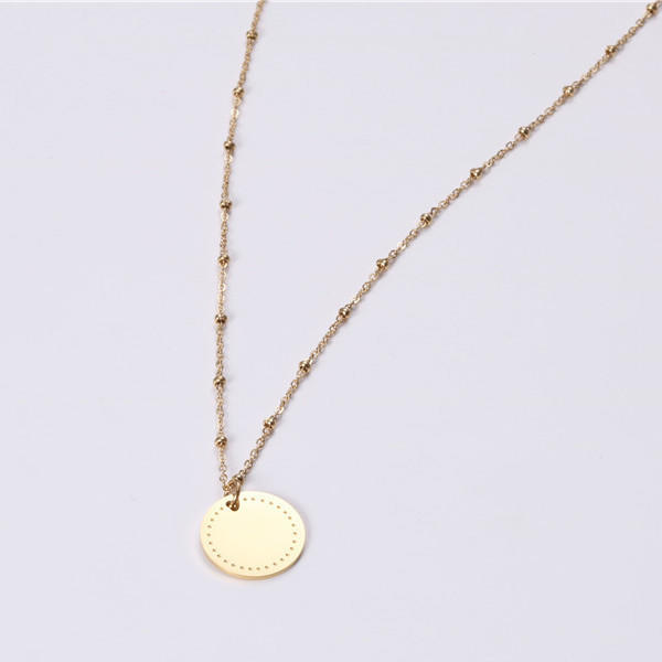 JaneE brushed surface stainless steel necklace manual polished manufacturer
