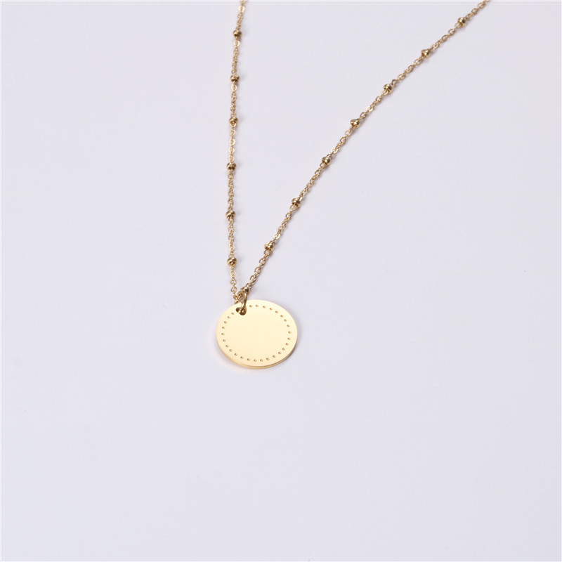 fragrant stainless necklace engraved different dimension for decoration-2