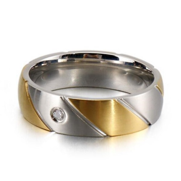 JaneE square edges stainless steel promise rings fashion design for men-2