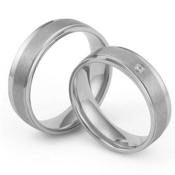 18K Gold Plating Surgical Stainless Steel Wedding Band Gift for Men Women