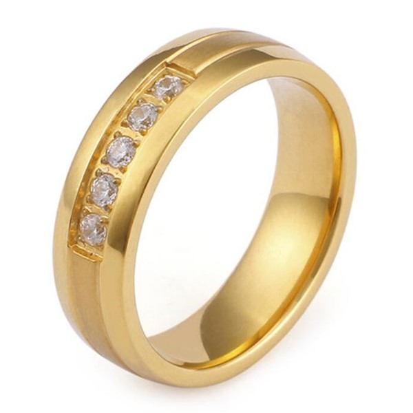 JaneE plating steel wedding rings comfortable for decoration-4