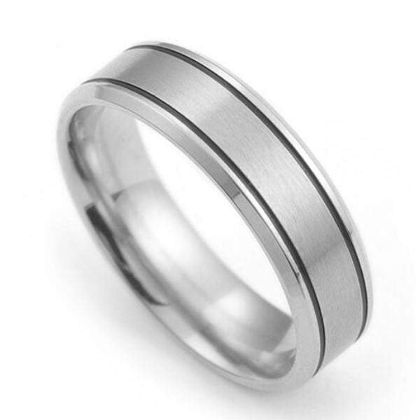 Stainless Steel Wedding Band Factory Matte Affordable Men Girl Ring