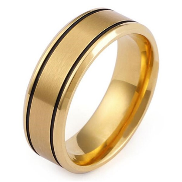 square edges stainless steel promise rings for him inlay multi colors for men-3
