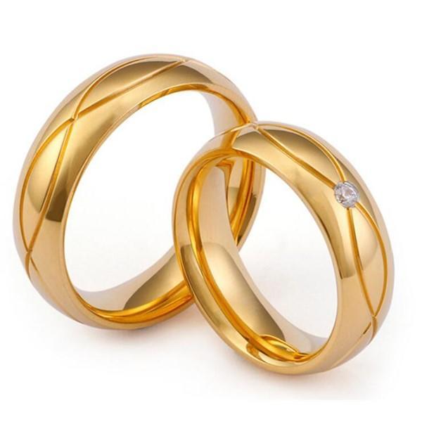 Flower Gemstone Wedding Band Stainless Steel Men and Women Ring