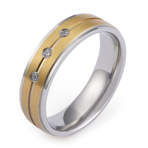 JaneE factory direct women's stainless steel wedding rings comfortable for men-3