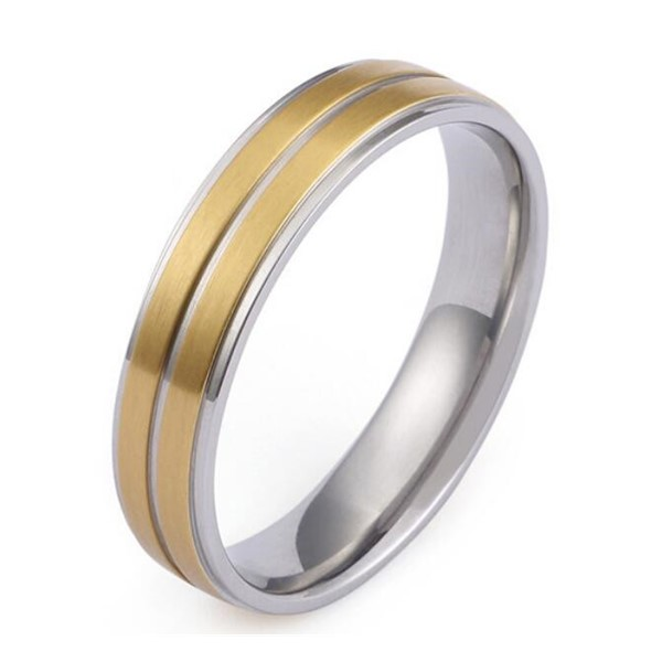 JaneE square edges women's stainless steel rings multi colors for weddings-4
