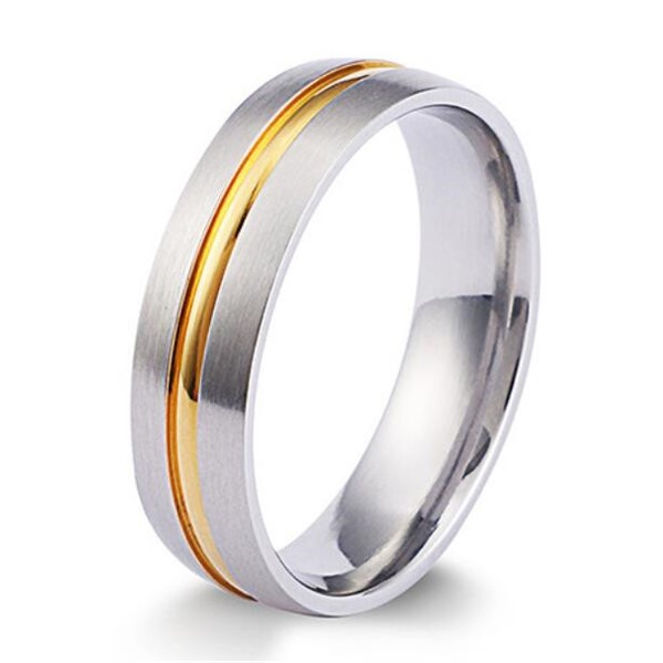 factory direct simple stainless steel rings AAA CZ Stones top quality for men-4