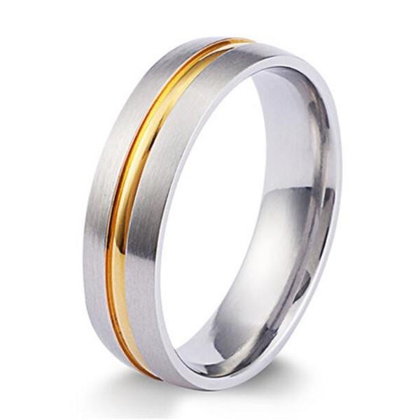 factory direct simple stainless steel rings AAA CZ Stones top quality for men