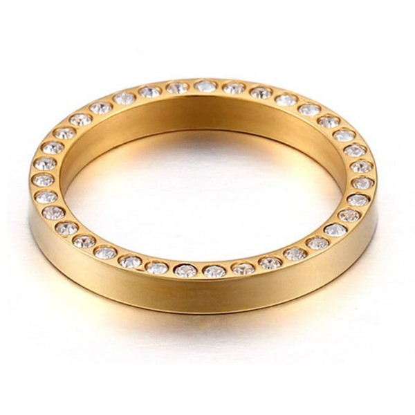customized stainless steel ring plated fashion design for decoration-4