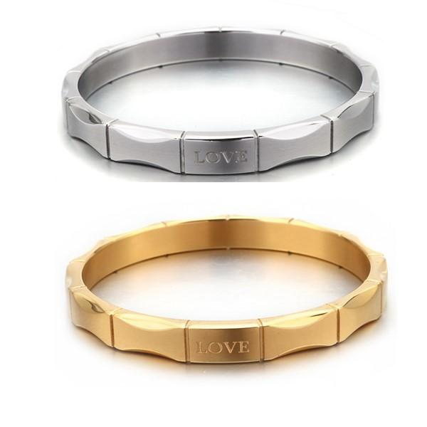 Women Love Bangle Personalized Name Engraved Stainless Steel Jewelry