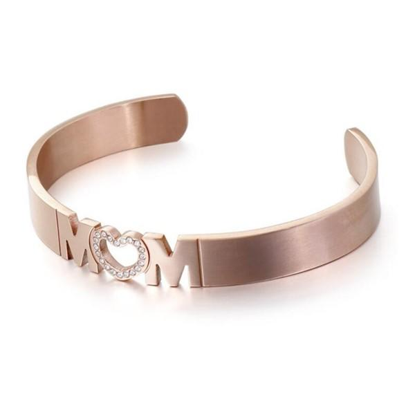 Mother Gift Stainless Steel Gemstone Mon Bangle
